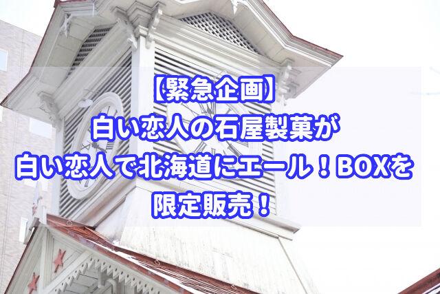 白い恋人の石屋製菓から白い恋人で北海道にエール!BOXが限定発売