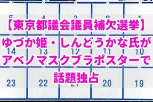 【東京都議会議員補欠選挙】しんどうかな氏がアベノマスクブラポスターで話題独占【ゆづか姫】
