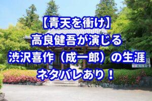 【青天を衝け】ネタバレあり!高良健吾が演じる渋沢喜作の生涯とは?