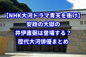 【NHK大河ドラマ青天を衝け】安政の大獄の井伊直弼は登場する?歴代大河俳優まとめ