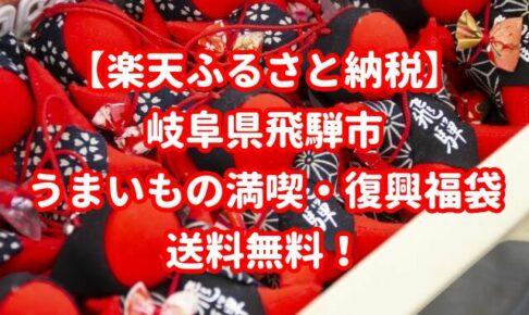 【楽天ふるさと納税】岐阜県飛騨市うまいもの満喫・復興福袋!送料無料
