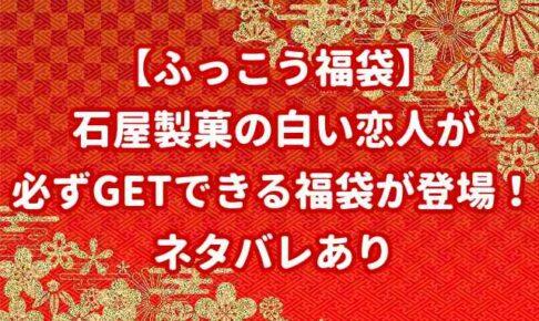 【ふっこう福袋】石屋製菓の白い恋人が必ずGETできる福袋が登場!ネタバレあり