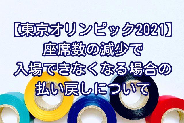【東京オリンピック2021】座席数の減少で入場できなくなる場合の払い戻しについて