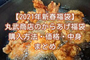 【2021年新春福袋】唐揚げの丸武商店の福袋情報!購入方法・価格・中身ネタバレまとめ